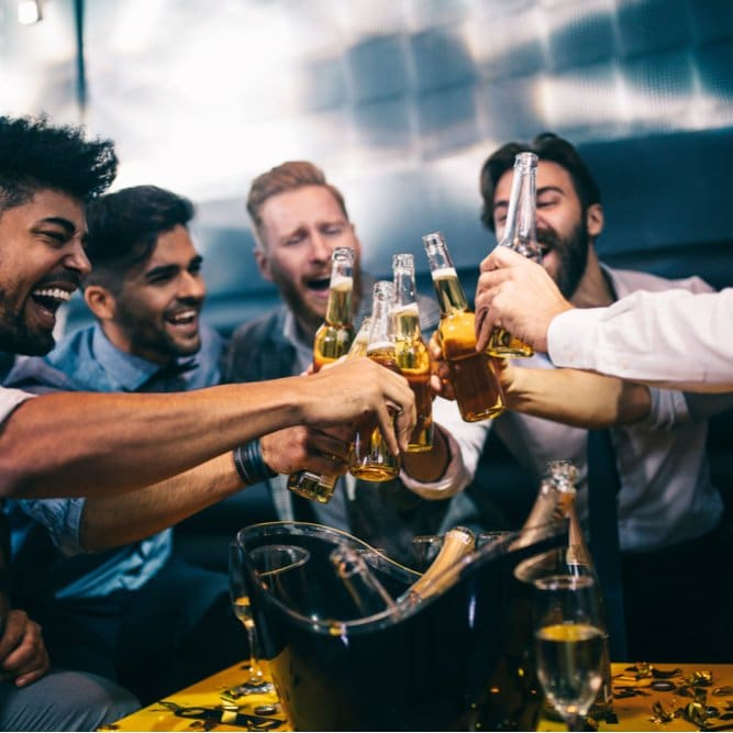 At What Age Does Alcohol Consumption Peak in the Average Man?